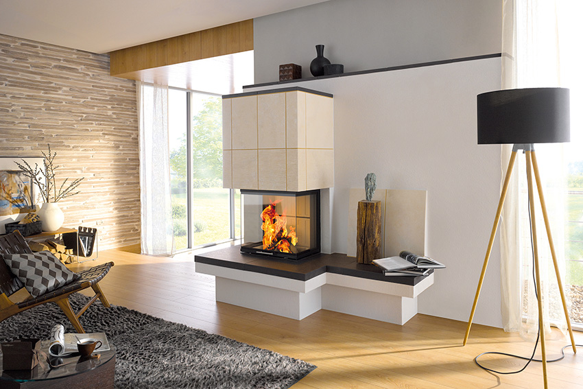 Ruka Ofenkeramik Kachelofen Kamin Heizen Niedrigenergiehaus Feuer Holz  Alternative Energien Design Modern Haus Mit Bank
