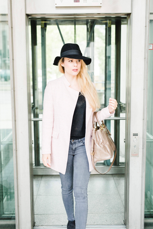 Businesslook Rosa Mantel Fashionblog Bonn Köln