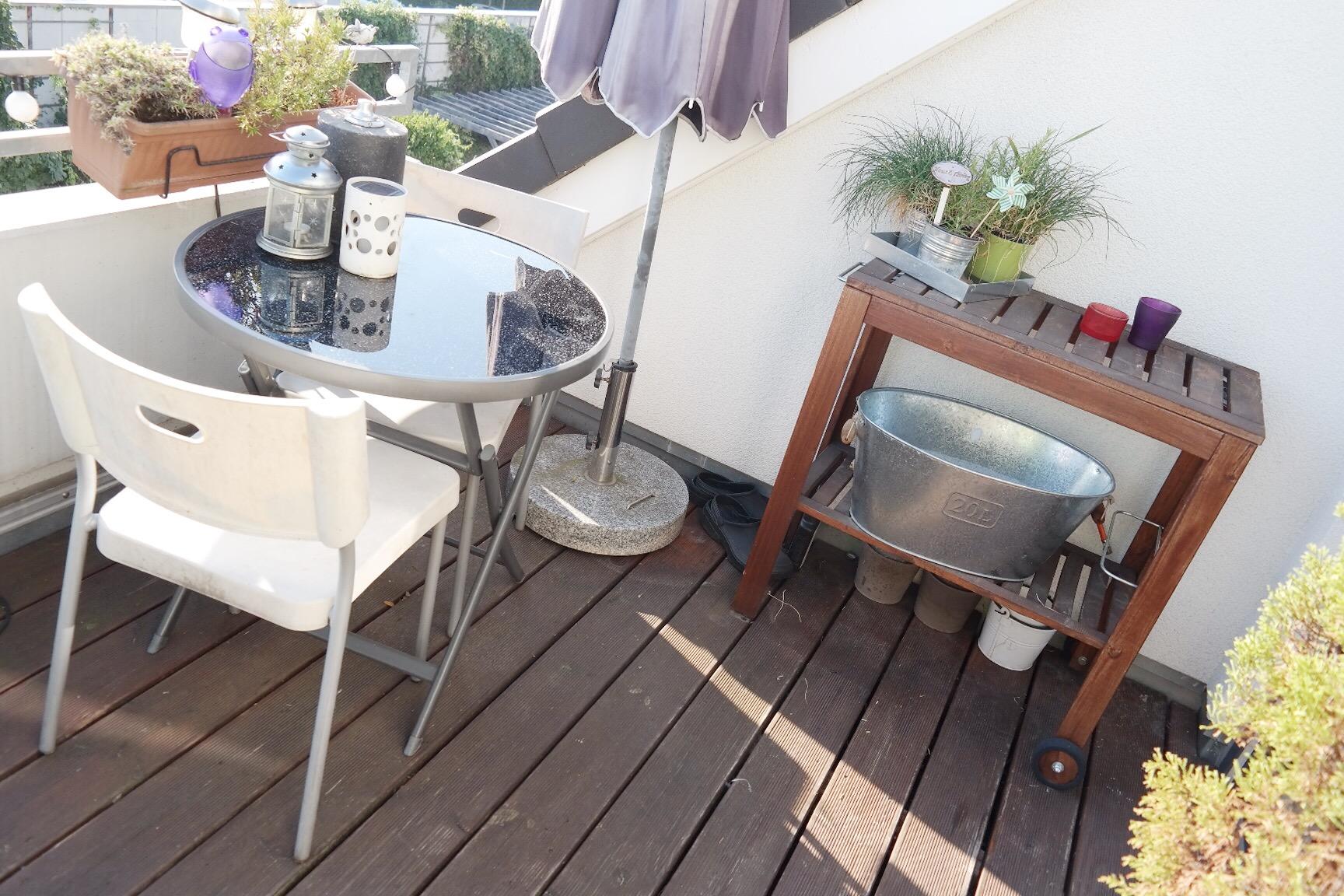 Balkon Verschonern Modern Weiss Herbst Missbonnebonne